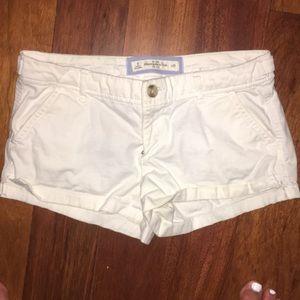 abercrombie white cargo shorts